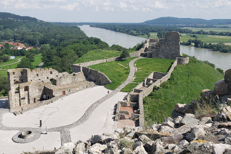 castle ruins in Bratislava, Slovakia