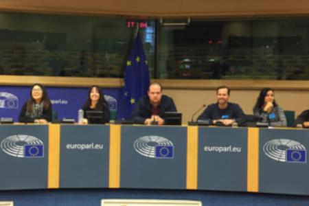 students at European Parliament
