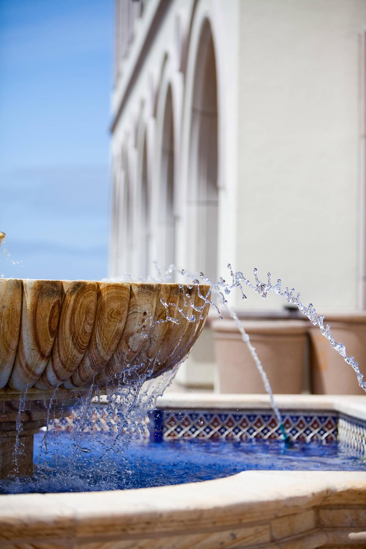 water fountain drops