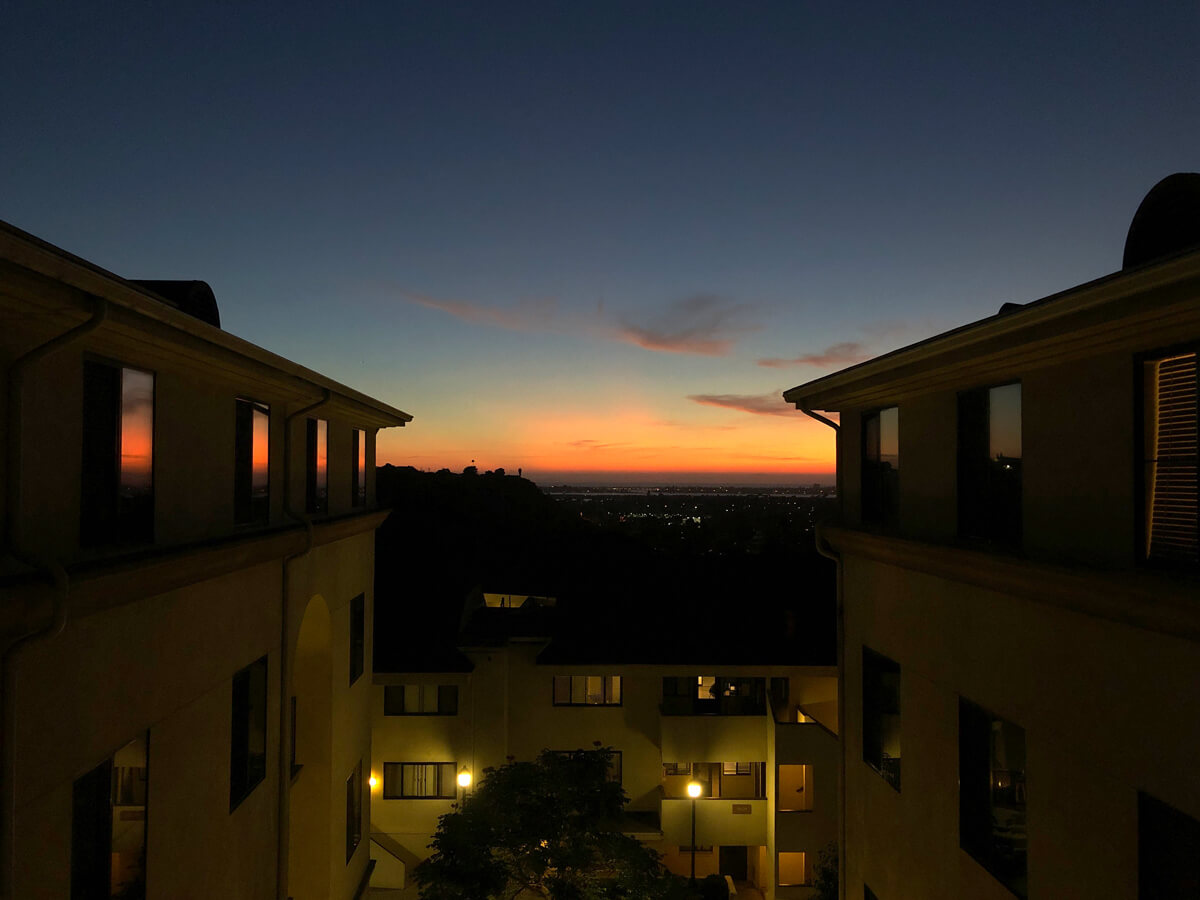 Sunset from San Buen apartments