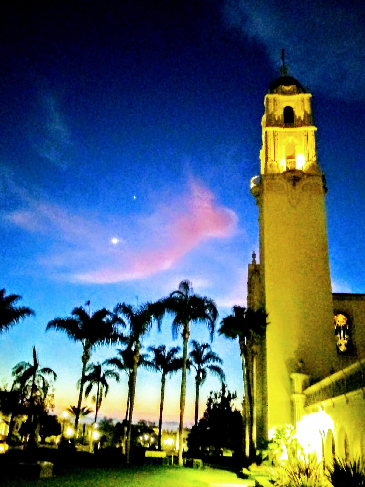Deep blue Immaculata sunset