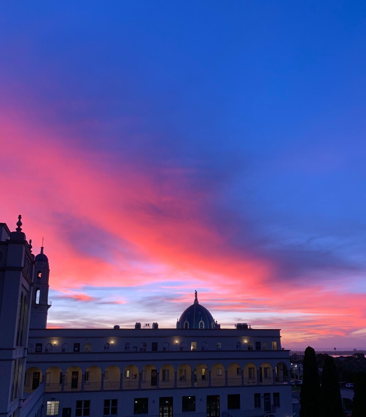 Immaculata sunset horizon