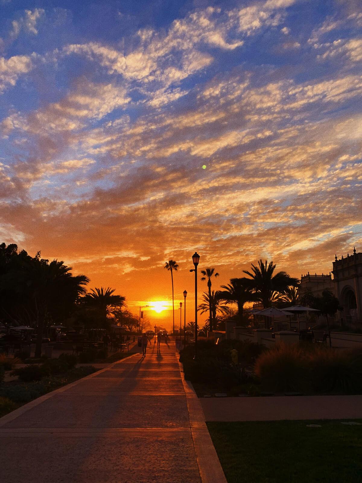 Orange campus sunset