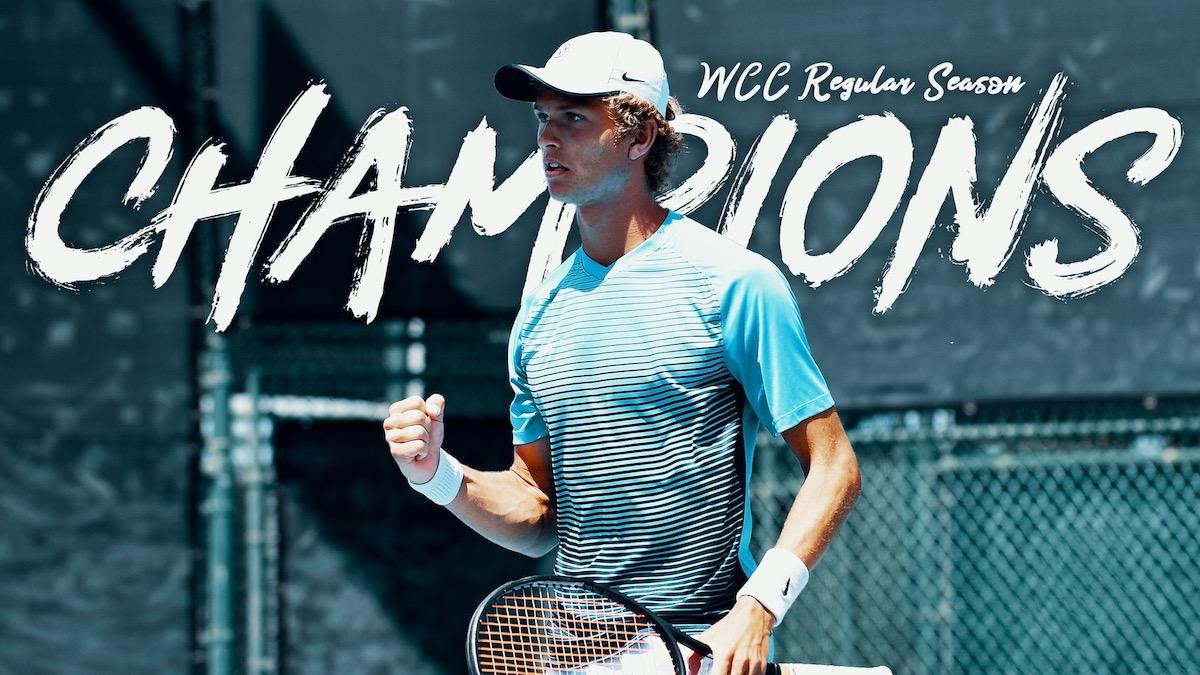 Men's Tennis wins WCC Regular Season