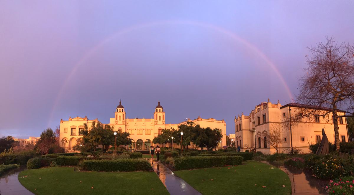 Kroc School rainbow